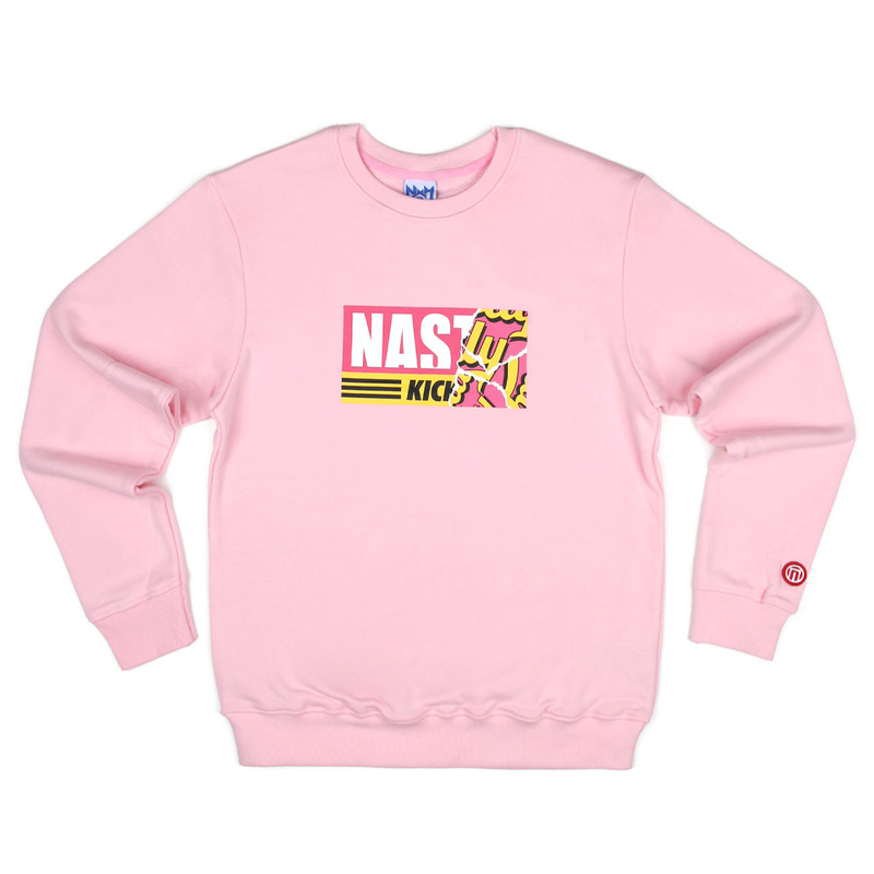 [NASTY PALM] NASTY KICK SWEETS SWEATSHIRTS (PINK)