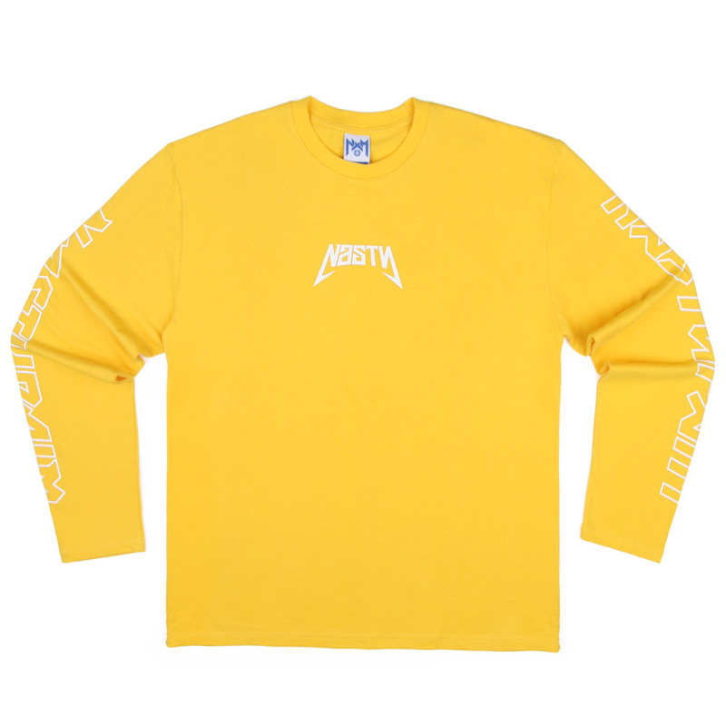 [NASTY PALM] NASTY SEEK LONGSLEEVE TEE (YELLOW)