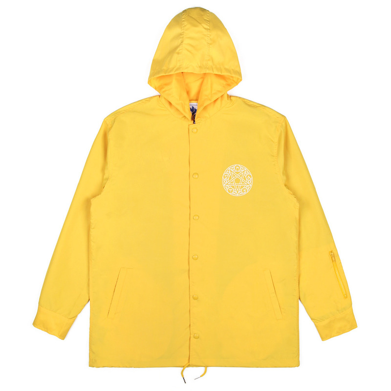 [NASTY PALM] NOISE HOODIE COACH JACKET (YELLOW)
