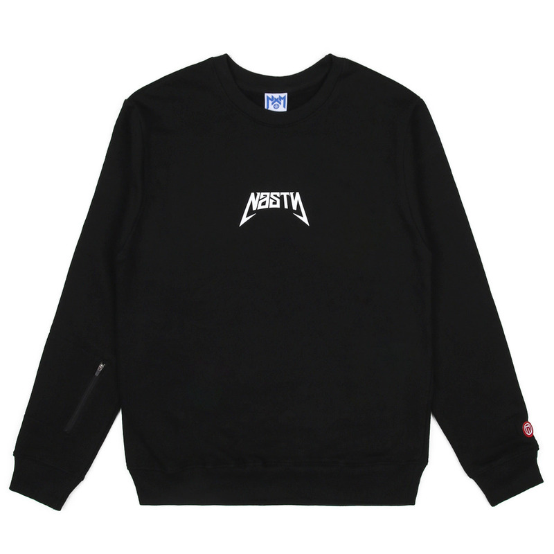 [NASTY PALM] NASTY BACK SIGN SWEATSHIRTS (BLK)