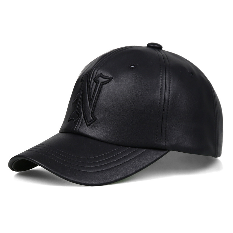 [NASTY PALM] CLASSIC N LEATHER CAP (BLK)