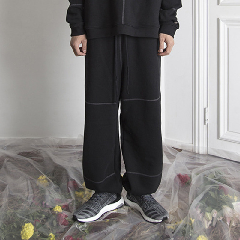 [KRAP] HEAVY VINTAGE SWEATPANTS BLACK