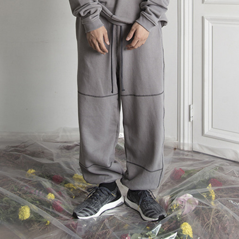 [KRAP] HEAVY VINTAGE SWATPANTS GRAY