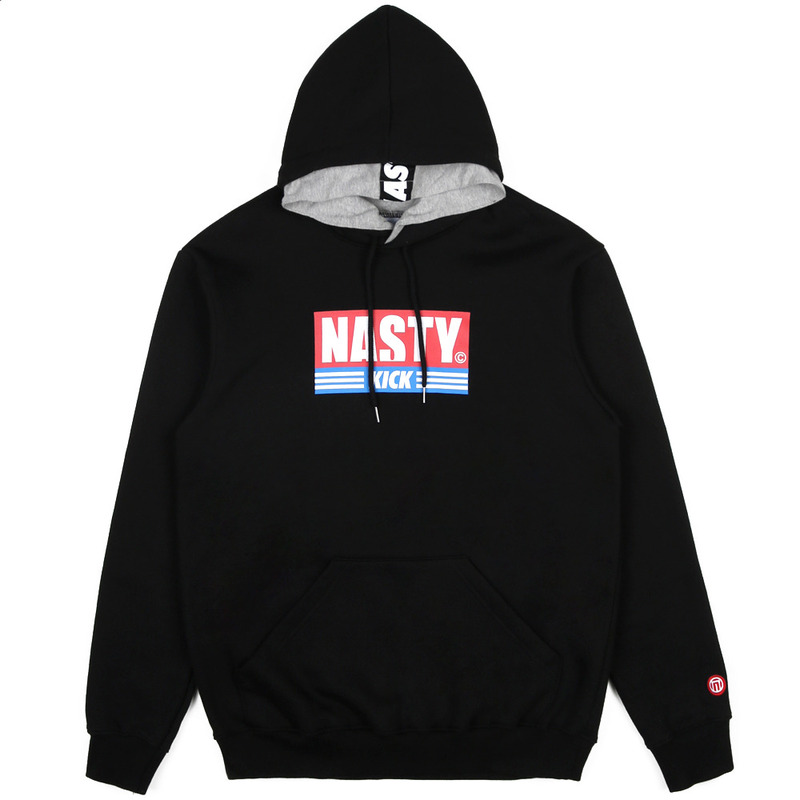 [NASTY PALM] NASTY KICK DOUBLE HOODY (BLK)