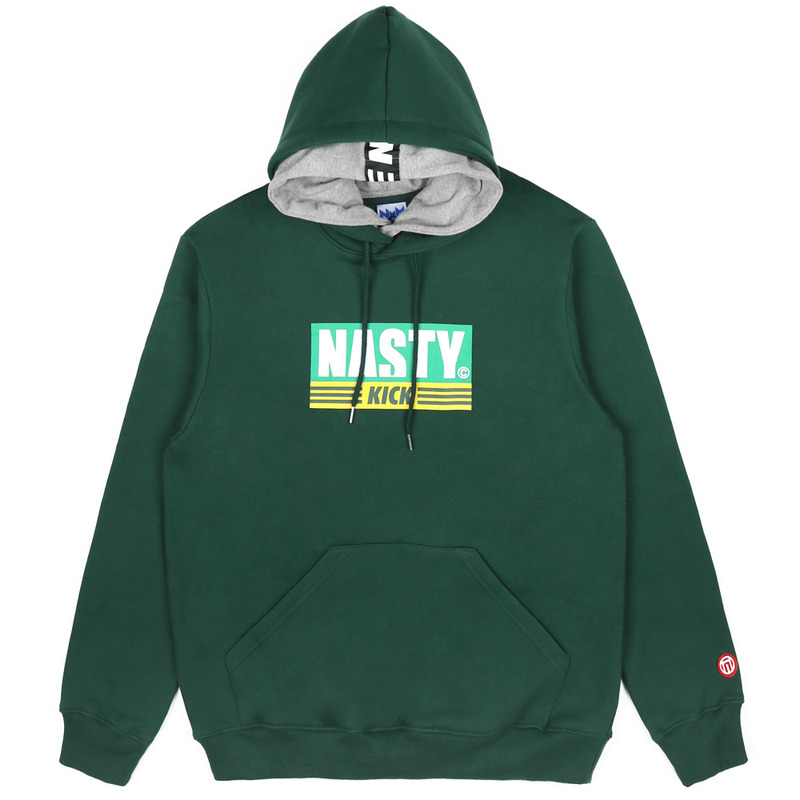 [NASTY PALM] NASTY KICK DOUBLE HOODY (GREEN)