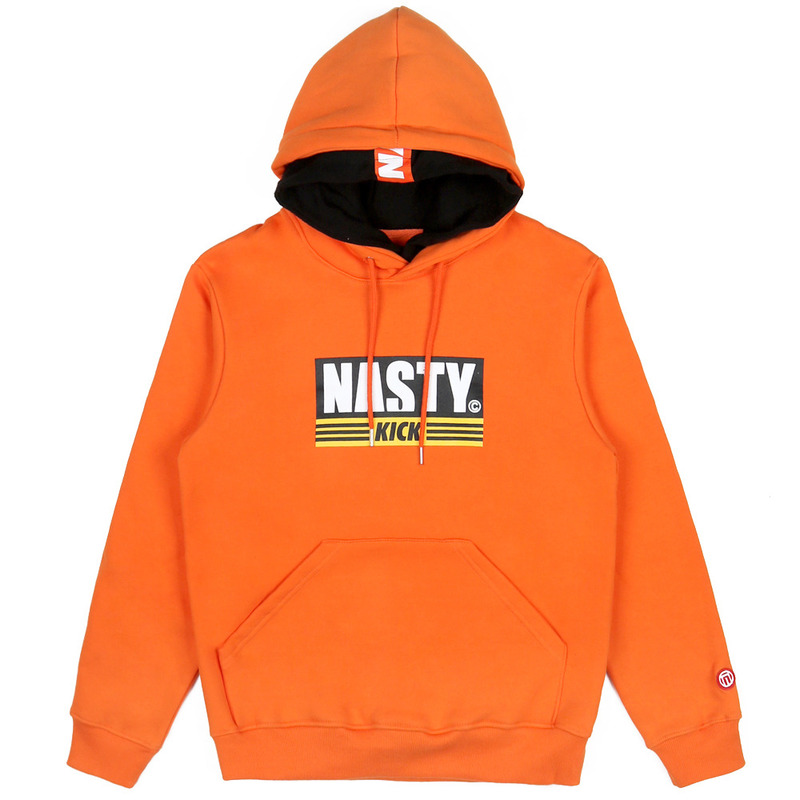 [NASTY PALM] NASTY KICK DOUBLE HOODY (ORANGE)