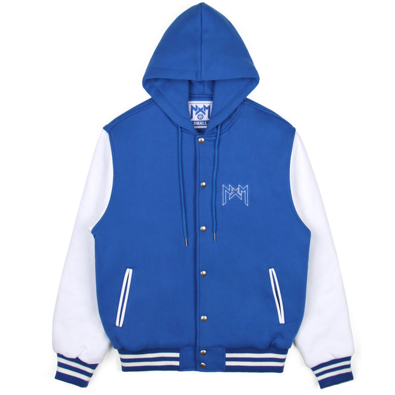 [NASTY PALM] NASTY KICK HOODIE STADIUM JACKET (BLUE)
