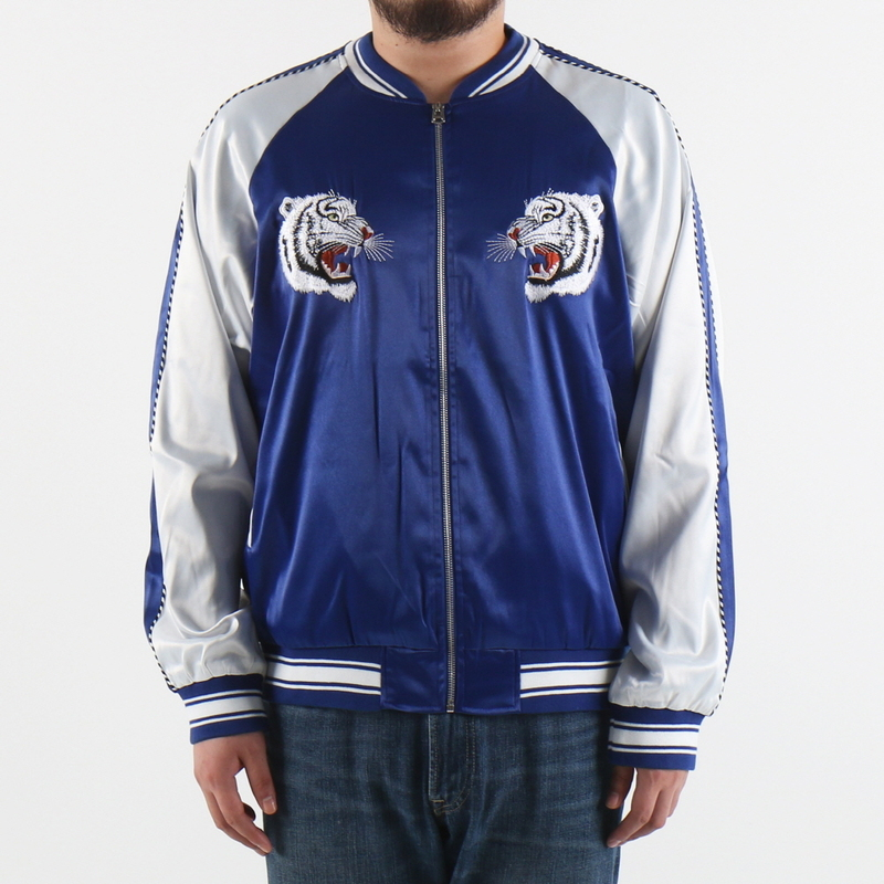 [$ SHOP SALE] [EPTM] CHOSUN TIGER SOUVENIR JACKET (BLUE/IVORY)