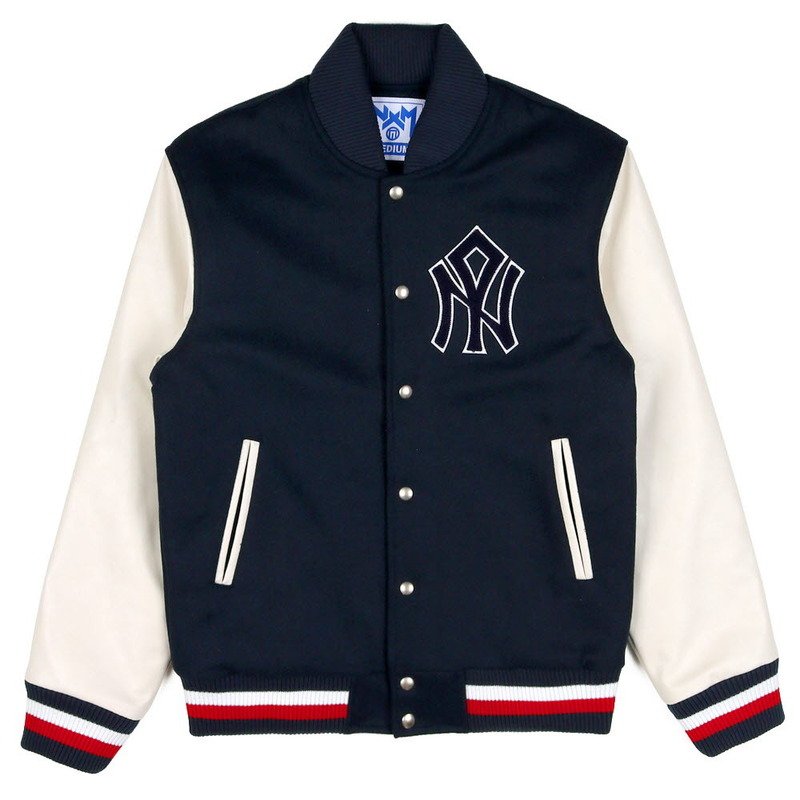 [NASTY PALM]  NASTY MOB STADIUM JACKET (NAVY)
