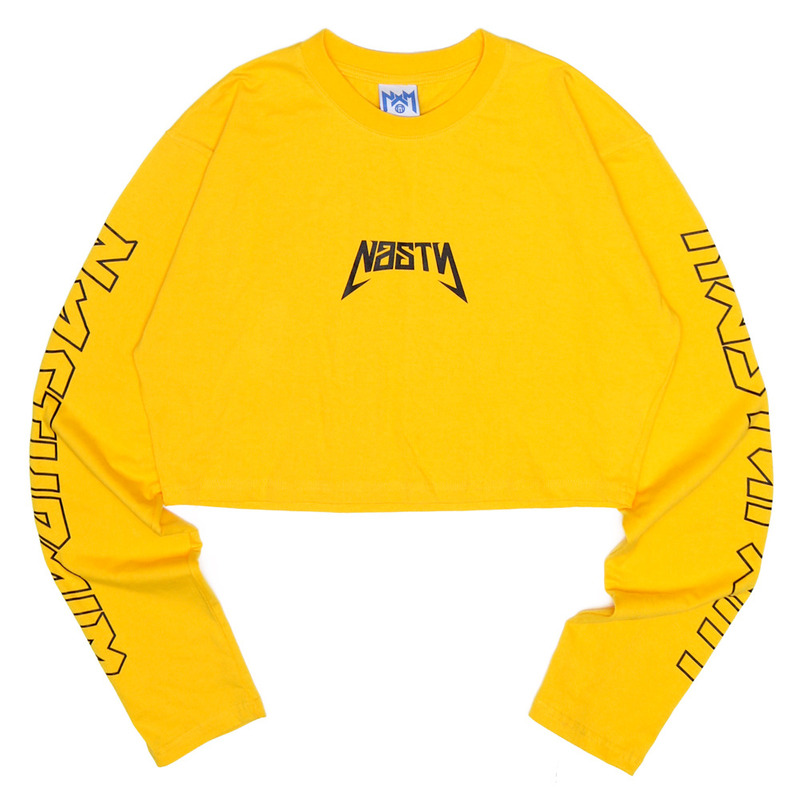 [NASTY PALM] NASTY SEEK LONGSLEEVE FIT TEE (YELLOW)