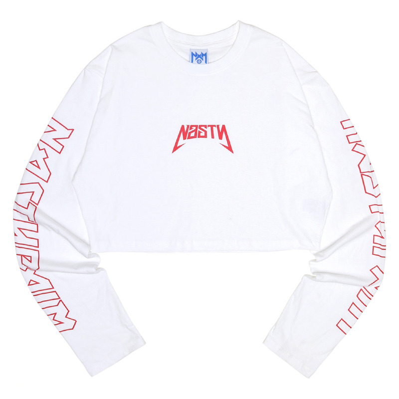 [NASTY PALM] NASTY SEEK LONGSLEEVE FIT TEE (WHITE)