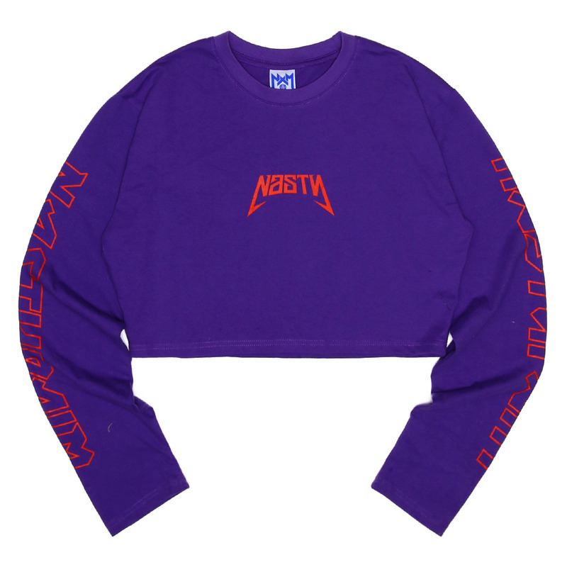 [NASTY PALM] NASTY SEEK LONGSLEEVE FIT TEE (PURPLE)