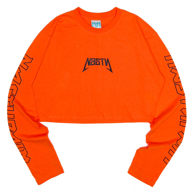 [NASTY PALM] NASTY SEEK LONGSLEEVE FIT TEE (ORANGE)
