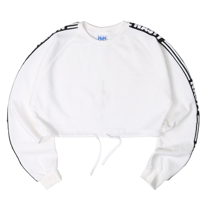 [NASTY PALM] NASTY LINE FIT SWEATSHIRTS (WHT)
