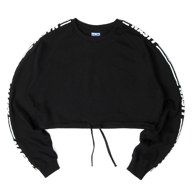 [NASTY PALM] NASTY LINE FIT SWEATSHIRTS (BLK)