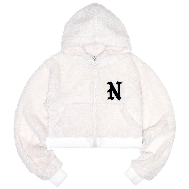 [NASTY PALM]  FRUFFY NASTY ZIPUP HOODY (WHITE)