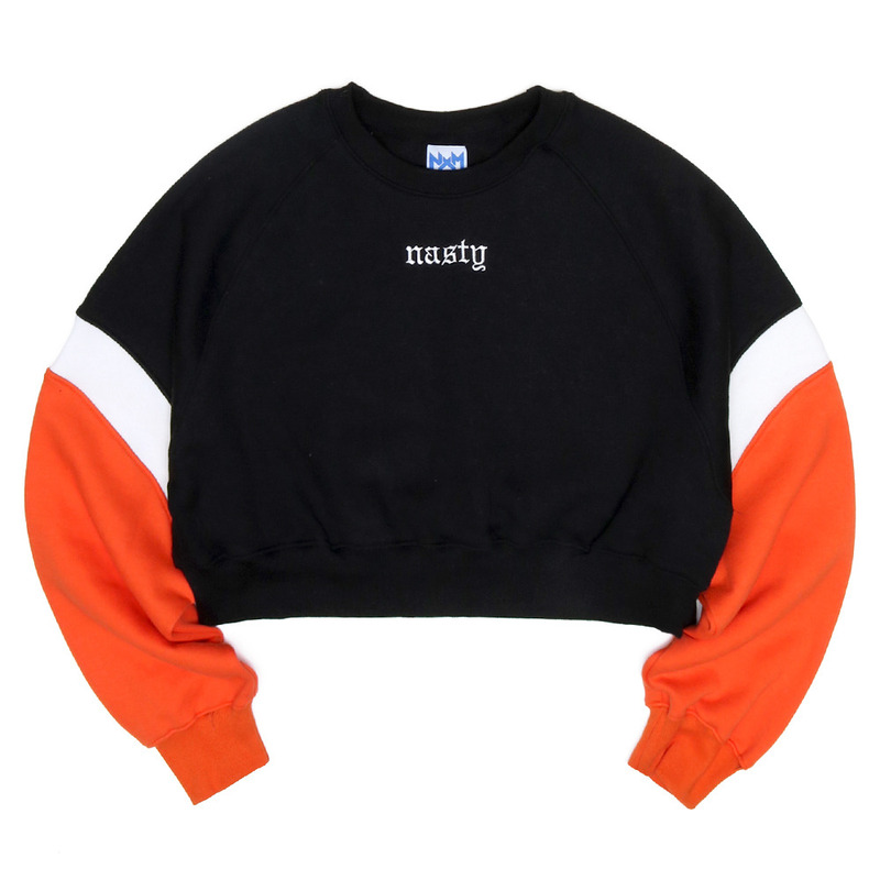 [NASTY PALM] CRUSH COLORATION SWEATSHIRTS (ORANGE)