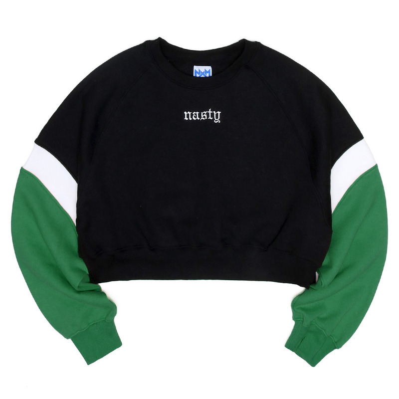 [NASTY PALM] CRUSH COLORATION SWEATSHIRTS (GREEN)