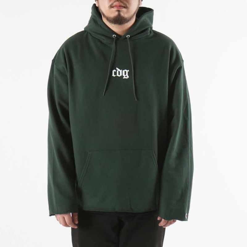 [쿠드그라스 연말 FINAL SALE] [COUPDEGRACE] CDG CREW CHAMPS HOODY CUTOFF (KELLY GREEN)