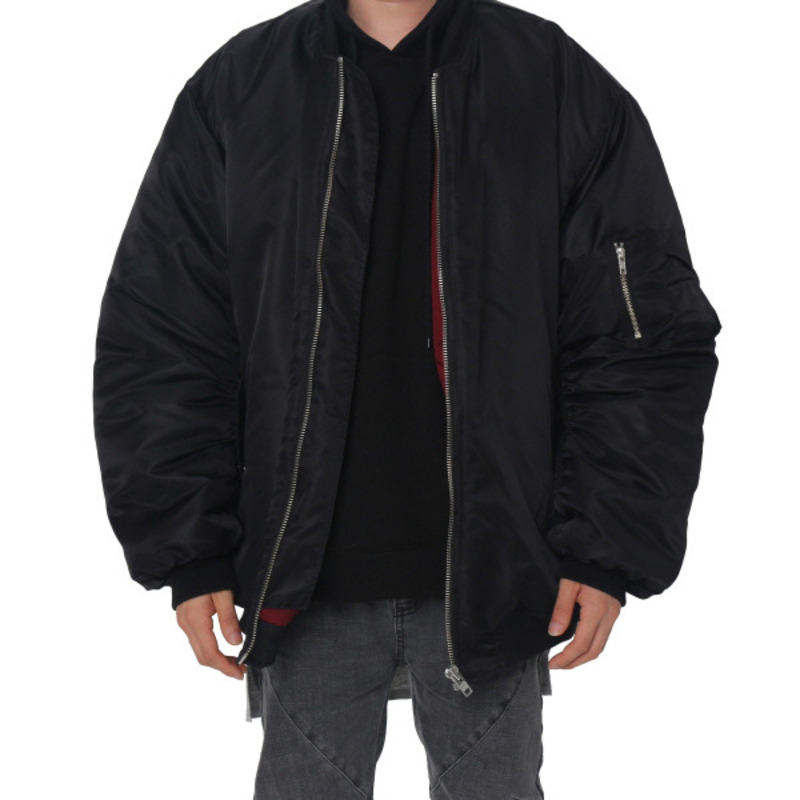 [FADE6] OVERSIZED BOMBER JACKET BLACK