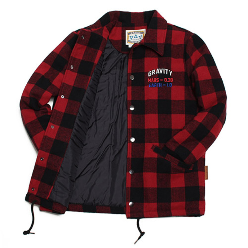 [GROSS INVENTORY] WOOL CHECK COACH JACKET(RED)