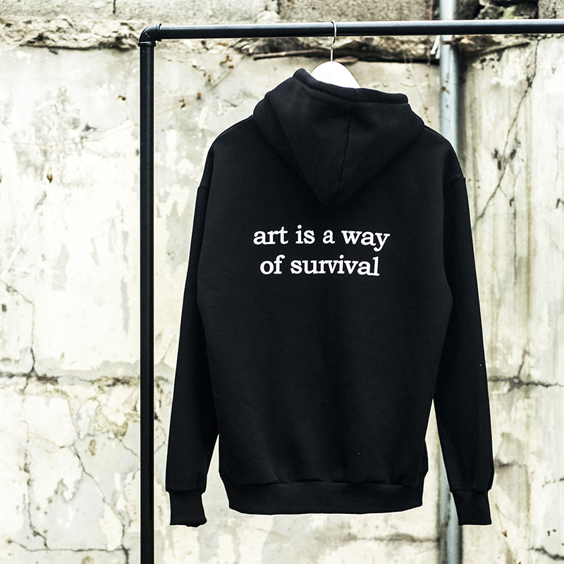 "[WHOLOVESART] UNISEX ""art is a way of survival"" HOODY"