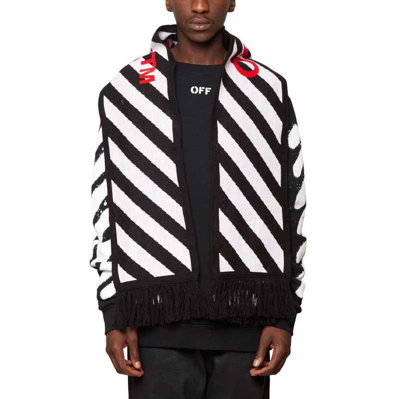 [OFF-WHITE] DIAGONALS SCARF