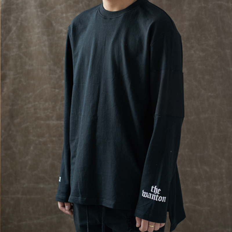 [WANTON] ANOTHER STREET LONG SLEEVE - BLACK