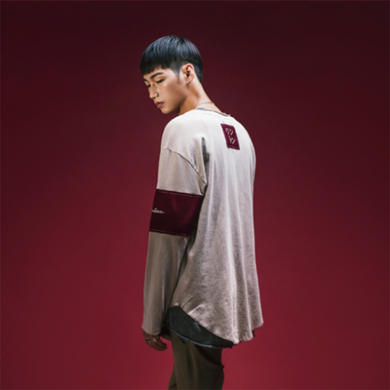 [WANTON] ARM&NECK PATCH POINT LONG SLEEVE (BEIGE)