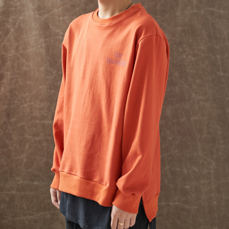 [WANTON] BASIC SWEATSHIRTS - ORANGE