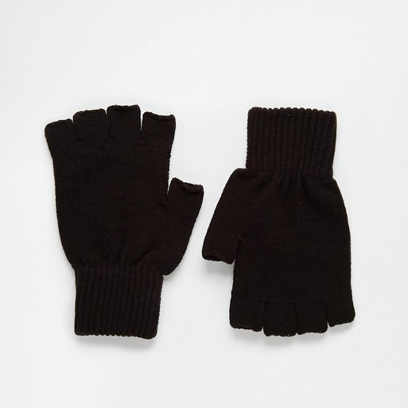 [ASOS] FINGERLESS GLOVES IN BLACK