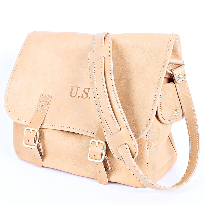 [AGINGCCC] MS. 34# US MUSETTE LEATHER BAG