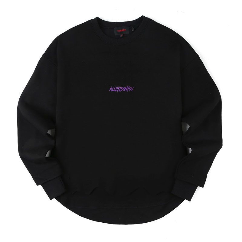[ALLEYESONYOU] CURSED GOAT BLACK SWEAT SHIRT