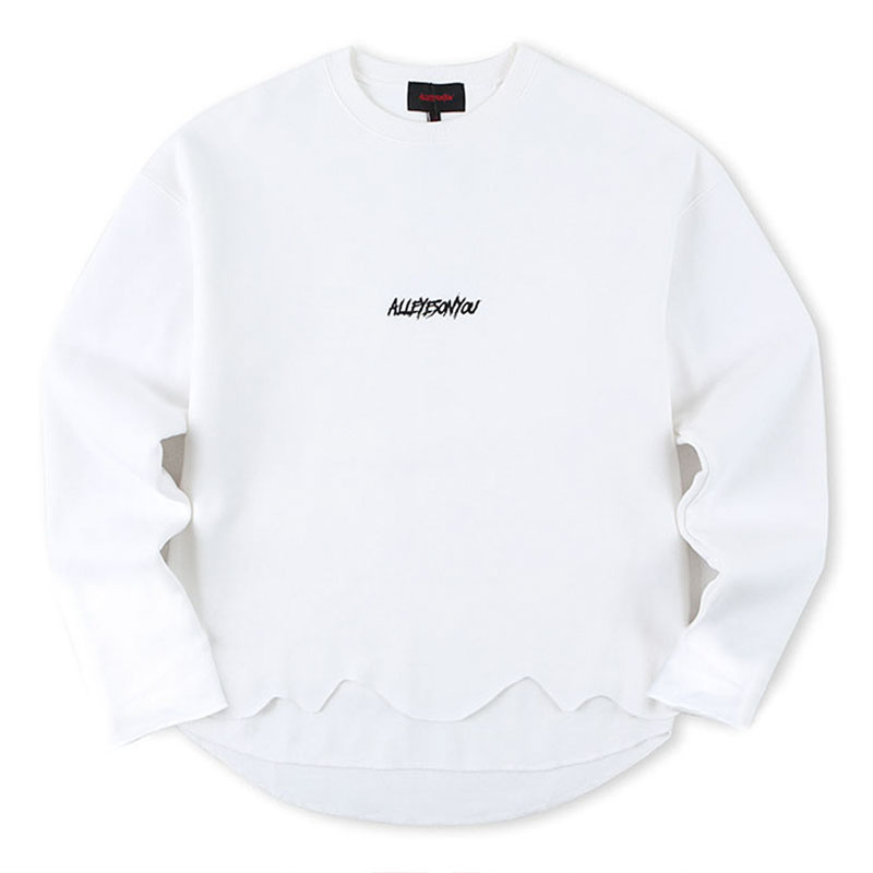 [ALLEYESONYOU] CURSED GOAT WHITE SWEAT SHIRT