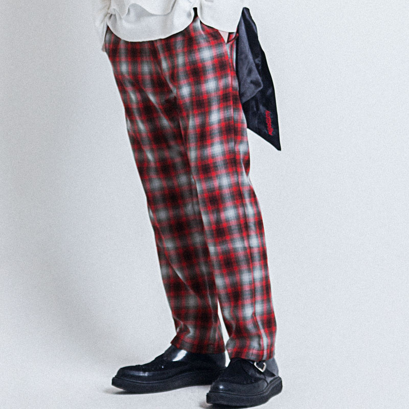 [ALLEYESONYOU] VICE CITY FLANNEL CHECK PANTS