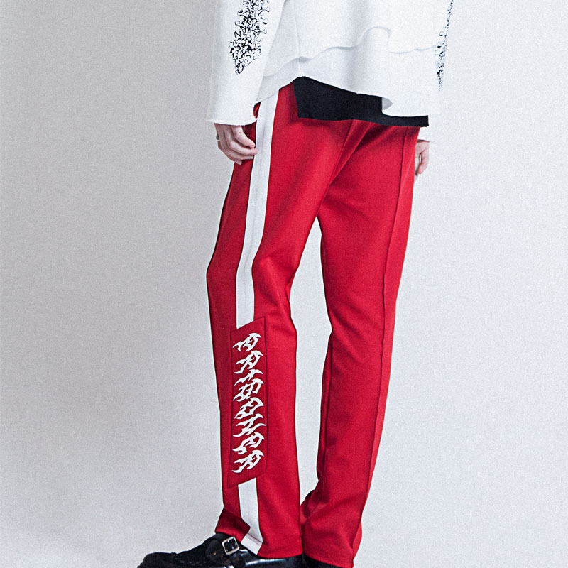 [ALLEYESONYOU] VICE CITY PRISONER RED TRAINING PANTS