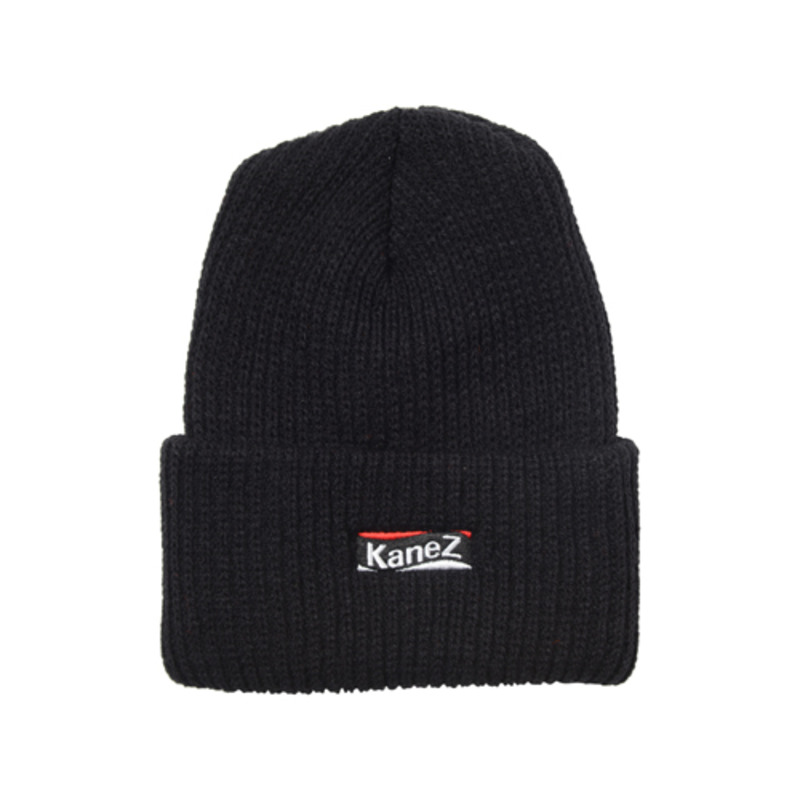 [$ SHOP SALE][KANEZ] FLAG BOX BEANIE BLACK