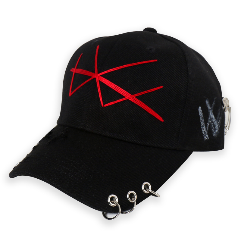[DOLM] W LOGO CAP BLACK/RED