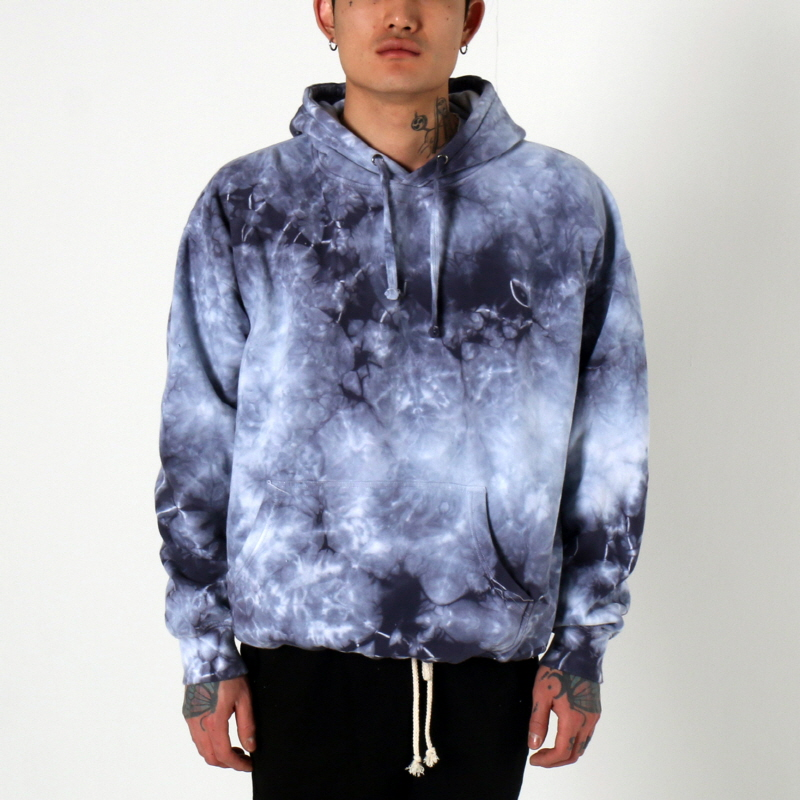 [쿠드그라스 연말 FINAL SALE] [EPTM] CRYSTAL DYE HOODIE (BLUE HAZE)