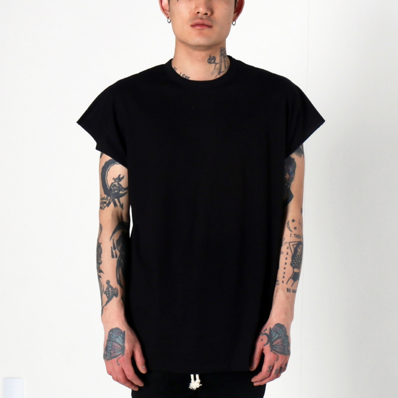 [1+1 EVENT] [$ SHOP SALE] [EPTM] BACK SEAM MUSCLE TEE (BLACK)