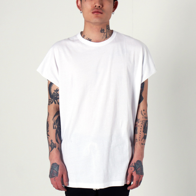 [1+1 EVENT] [$ SHOP SALE] [EPTM] BACK SEAM MUSCLE TEE (WHITE)