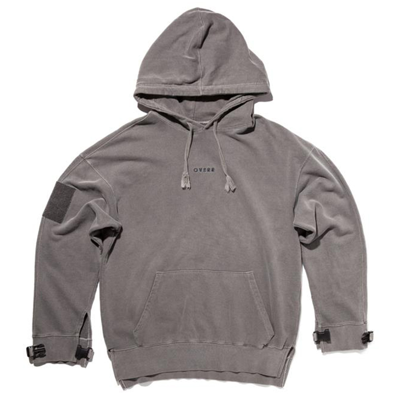 [OVERR] TOME.1 VELCRO PIGMENT GRAY HOODIE