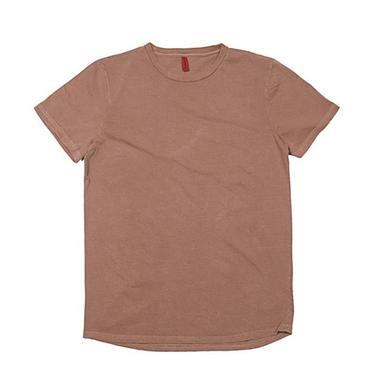 [OVERR] TOME.1 PIGMENT LAYERED BROWN LONG TEE