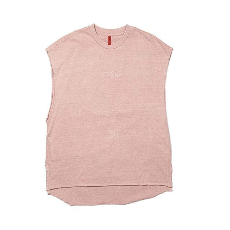 [OVERR] TOME.2 SIDE SLIT PIGMENT PINK SLEEVELESS