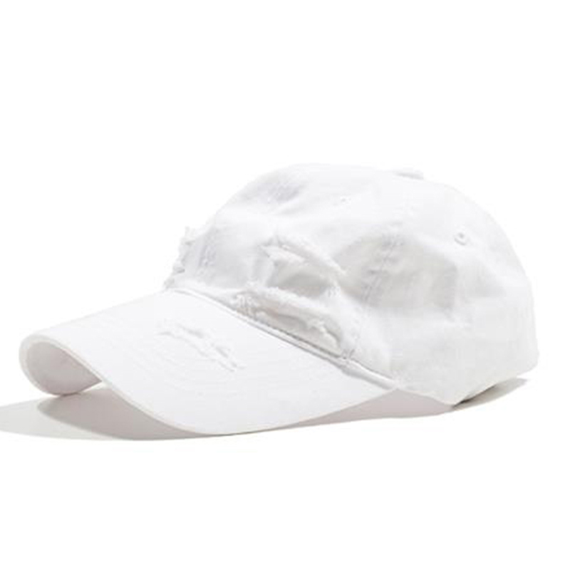 [OVERR] ESSAY.1 DAMAGE RING WHITE BALLCAP