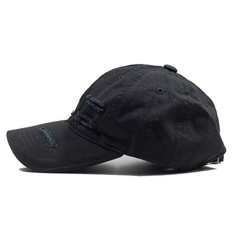 [OVERR] ESSAY.1 DAMAGE RING BLACK BALLCAP