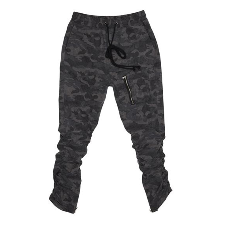 [OVERR] TOME.3 SHIRRING ZIPPER CAMO PANTS