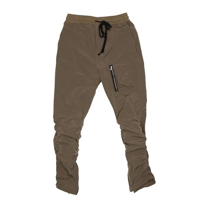 [OVERR] TOME.3 SHIRRING ZIPPER KHAKI PANTS