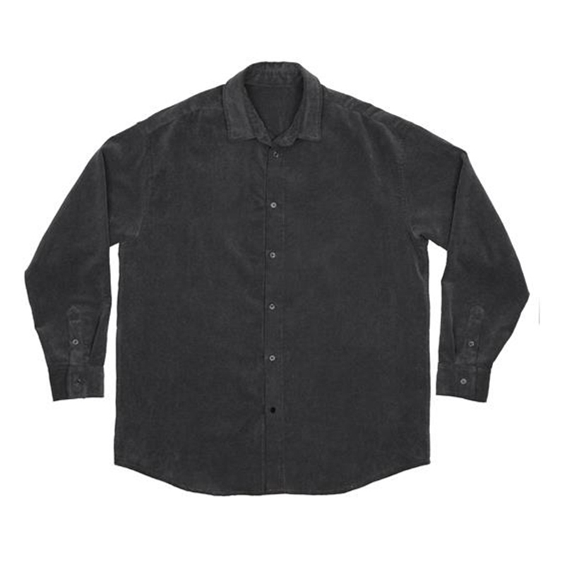 [OVERR] TOME.3 WASHING CORDUROY GRAY SHIRTS