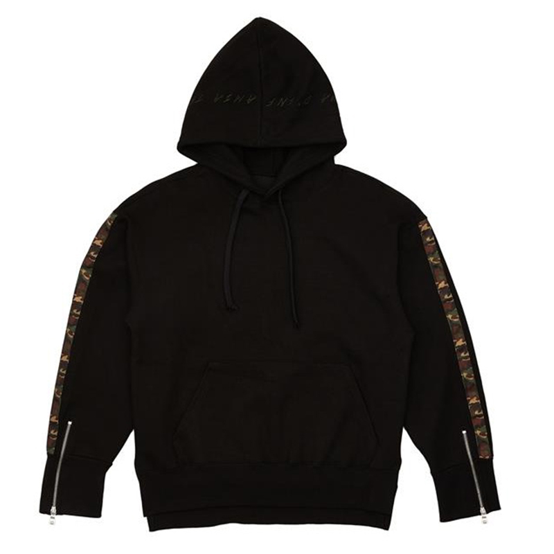 [OVERR] ESSAY.2 CAMO TAPING BLACK HOODIE